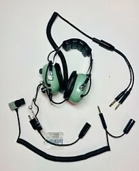 David Clark Helicopter Military Headset W Microphone Model H10-66 Nwt Pre-owned