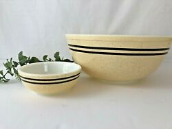 Pyrex Brown Speckled Stripes Chip And Dip Bowl Set Stack N Snack By Corning