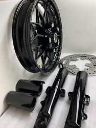 Harley 2020 Front Wheel Prodigy Touring Fork Rotors Gloss Black Oem Outright