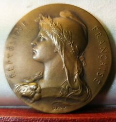 42mm Bronze Medal Marianne France By Roty Prefect Award
