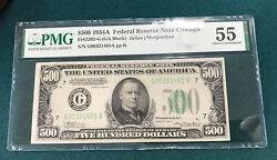 1934 500 Federal Reserve Note Chicago Pmg Au 55