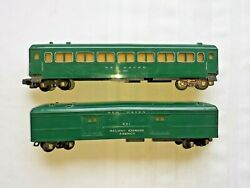 American Flyer 650 And 651 Chip Green New Haven Passenger And Baggage Cars