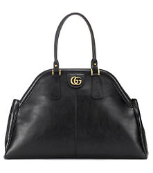 Nwt Womenand039s Re Belle X Large Leather Top Handle Tote Bag Black