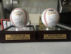 2004 And 2007 Boston Red Sox World Series Champs Team Signed Baseballs Mlb Auth