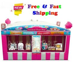 Fast Food Oxford Pink Inflatable Carnival Treat Shop Popcorn Ice Cream Booth5x3m