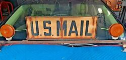 American U.s. Post Office Mail Army Jeep Roof Lamp Light Auto Sign Usps Postal