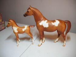 Breyer Vintage Spotted Legacy Gift Set Arab Mare and Foal Set Sears #490196