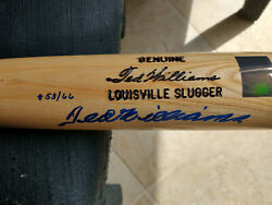 Ted Williams Signed Autographed Limited Edition /66 Bat With Inscriptions And Loa