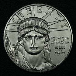 2020 100 One Hundred Dollar 1 Oz Platinum American Eagle Statue Of Liberty