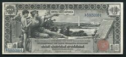 Fr. 224 1896 1 One Dollar Andldquoeducationalandrdquo Silver Certificate About Uncirculated