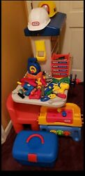 Little Tikes Vintage Workshop Workbench And Huge Lot Of Tools +fisher Price Tools