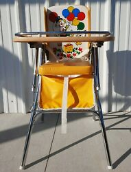 Highchair Antique Retro Vintage Old Baby Seat Chair Infant Child