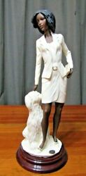 17 Dear Dog With His Lady Italy Sculpture By A. Belcari, 1998