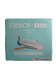 """Funboy X Bark Private Jet Plane Dog Float Life Pool Float For Dogs 55"""" X 75"""" Nib"""
