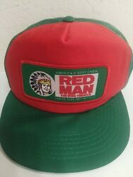 Vintage Red Man Chewing Tobacco Red/green Trucker Hat Wadsworth Snapback Korea