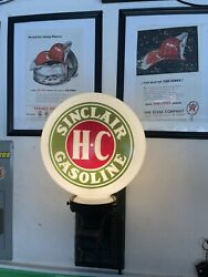 Sinclair Gas Oil Service Station Milk Globe And Sconce