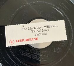 Brian May Queen - Too Much Love 7andrdquo With Jukebox Slip 45 1992 Nm
