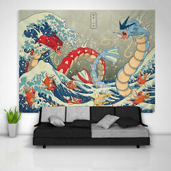 Japanese Gyarados Tapestry Art Wall Hanging Table Cover Posterr Home Decor USA
