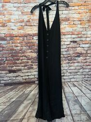 Black Zara Trf Overalls Womens Size Large $7.00
