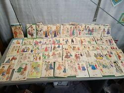Vintage 1950s-1970s Butterick Simplicity 50+ Sewing Patterns Lot Child Adult