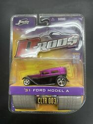 Jada Toys D-rods Custom Lowered Purple And Black '31 Ford Model A