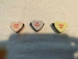 Midwest Of Cannon Falls Hinged Candy Trinket Boxes, - Love You- Hug Me- Be Mine