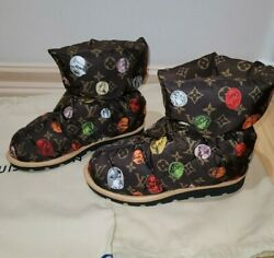 Louis Vuitton Pillow Snow And Rain Boot Water Repellent Fornasetti Monogram 40=10