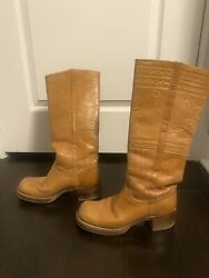 VINTAGE from 1970s Frye Campus Knee Boots