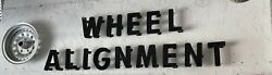 Gas Oil Service Station Wheel Alignment And Rim Letter Sign