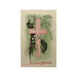 P01a Easter Greetings Post Card 1andcent Franklin Stamp - Posted Branchville Ct 1910