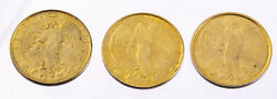 Vintage Religious Guardian Angel Token Metal Double Sided Coins Medal Lot Of 3