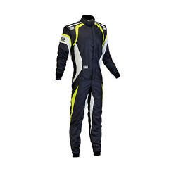 New Omp One Evo My15 Black/yellow Racing Suit With Fia Homologation - 48