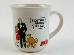 1982 Applause Orphan Annie Daddy Warbucks Coffee Mug Don't Need Anything But You