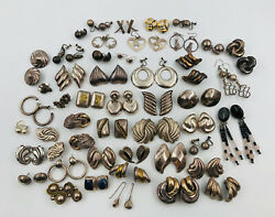 Lot Of 47 Pairs Of Mexican Taxco Sterling Silver Earrings Lot - 641 Grams