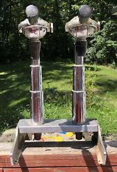 Cool Vintage Soda Fountain Service Country Store Chrome Brass Tap Dispenser