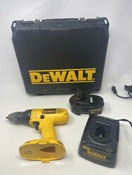 Dewalt Dw959 18v Nicd Cordless 1/2 Drill With 18v Battery, Charger, Case, Works