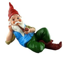 Funny Guy Mugs Gnome And A Dachshund Garden Gnome Statue- Indoor/outdoor Gard...