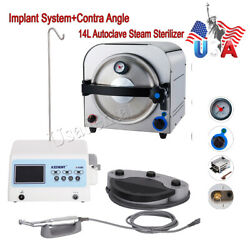 Us Dental System Brushless Implant Motor+contra Angle/autoclave Steam Sterilizer