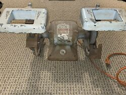 Vintage Delta Milwaukee Rockwell Andfrac12 Hp Heavy Duty Bench/stand Grinder
