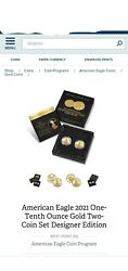 American Eagle 2021 One-tenth Ounce Gold Two-coin Set Designer Edition 21xk