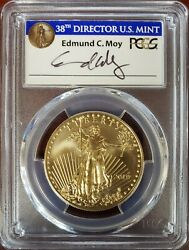 2019 Pcgs Ms70 Gold Eagle First Day Of Issue 50 Ed Moy Signed Pop Only 249
