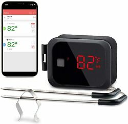 Bluetooth Grill Meat Thermometer Barbecue Cooking Kitchen Smoker 150ft 2 Probes