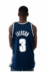 Mitchell And Ness Georgetown Hoyas 1995 Iverson College Vault Swingman Away Jersey