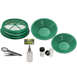 7 Pc Beginners Gold Rush Panning Mining Classifier Kit With Accessories