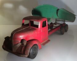 Antiqueoriginalturner Toys 1930and039s Dump Truck Pressed Steel Large 27and039and039