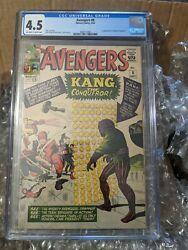 Avengers 8 4.5 Cgc -1st Kang The Conqueror