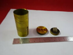 For Parts Antique Brass Portable Seeds Microscope Vintage Part As Is And92-14