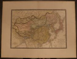1828 China And Japan Empires In Full Color - Brue 26.5 X 20.8 Huge Map - Antique