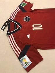 Colombia James Soccer Jersey Fifa World Cup Brasil 2014 Real Madrid Barcelona Us