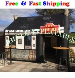 Portable Custom House Shaped Giant Inflatable Bar Pub Tent For Outdoor Party